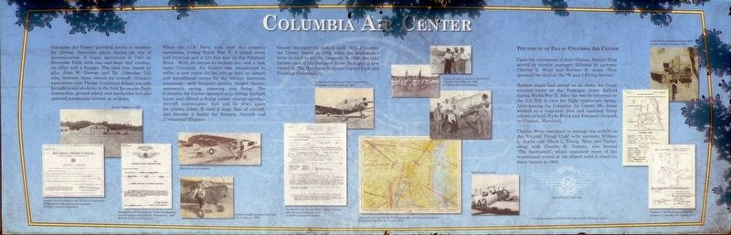 Columbia Air Center Marker image. Click for full size.