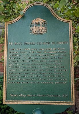 St. Paul United Church of Christ Marker image. Click for full size.