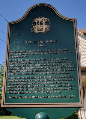 The Flynn House Marker image. Click for full size.
