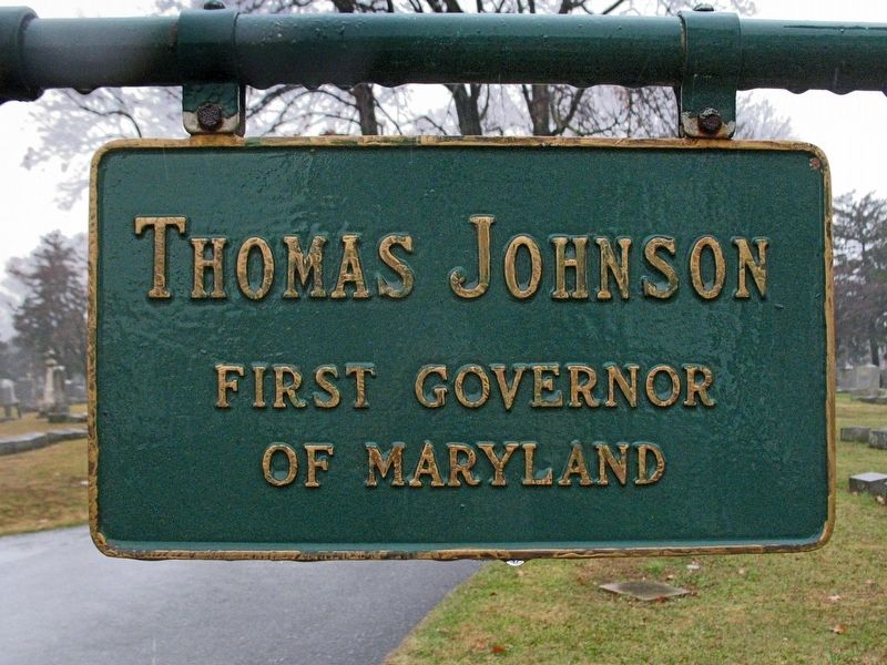 Thomas Johnson<br>First Governor of Maryland image. Click for full size.