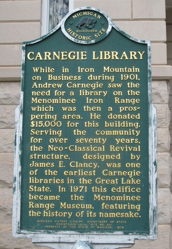 Carnegie Library Marker image, Touch for more information