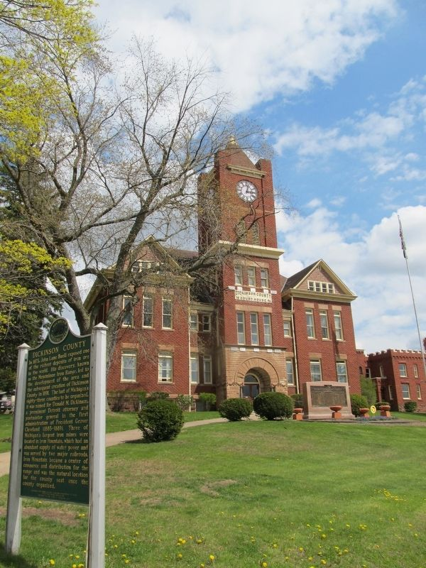 Dickinson County / Dickinson County Courthouse and Jail Marker image. Click for full size.