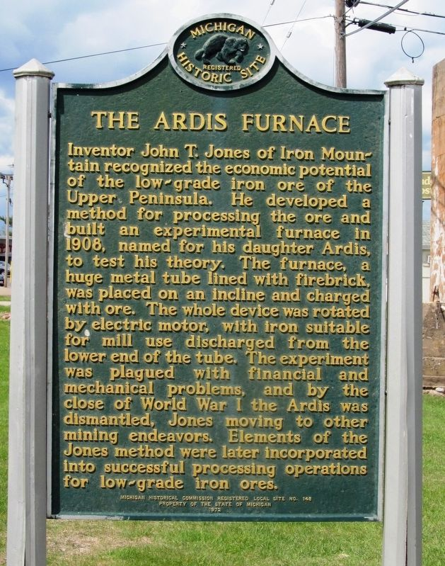 The Ardis Furnace Marker image. Click for full size.