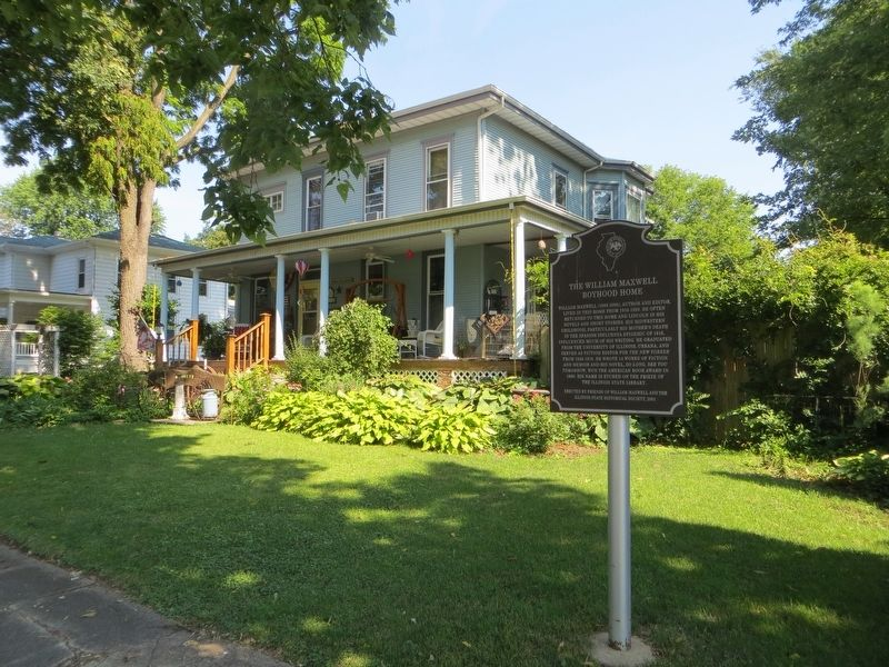 The William Maxwell Boyhood Home Marker image. Click for full size.