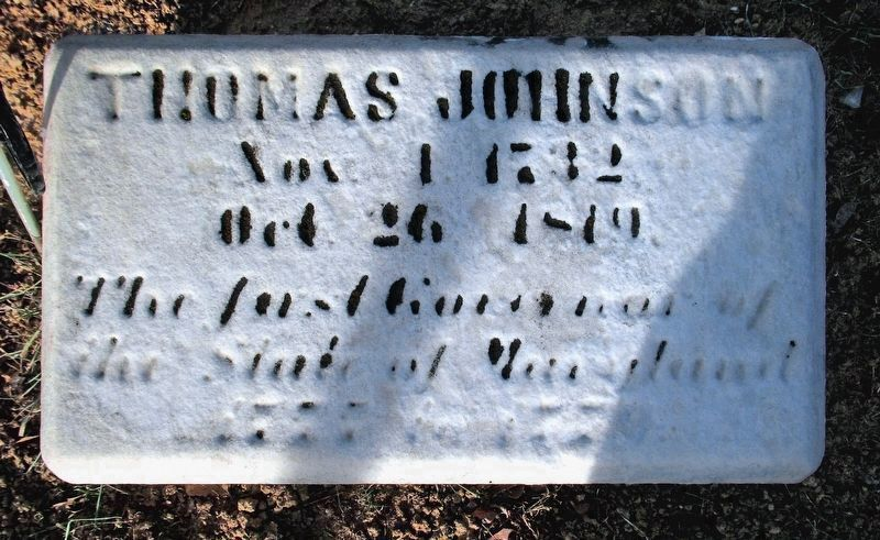 Thomas Johnson Grave Marker image. Click for full size.