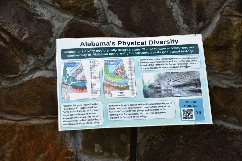 Alabama's Physical Diversity Marker image. Click for full size.