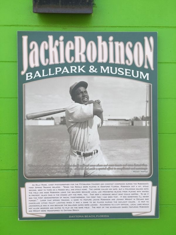 Jackie Robinson First Spring Training image. Click for full size.
