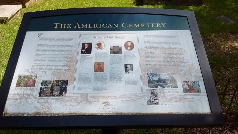 The American Cemetery Marker image. Click for full size.