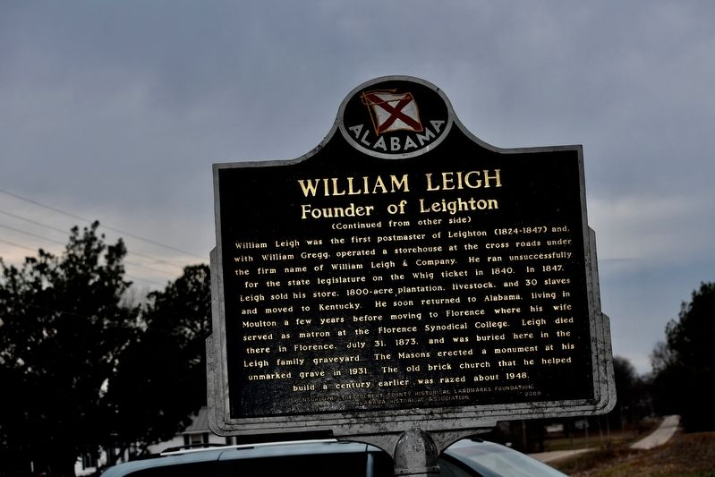 William Leigh Marker image. Click for full size.