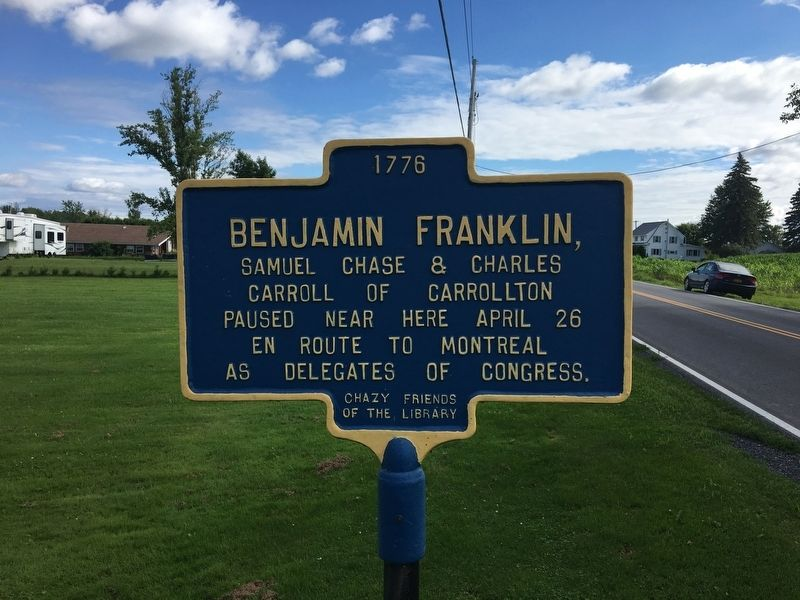 Benjamin Franklin Marker image. Click for full size.
