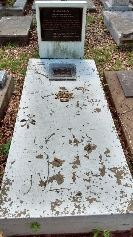 Dr. John Sibley Grave image. Click for full size.