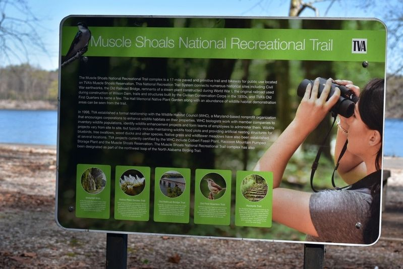Muscle Shoals National Recreational Trail Marker image. Click for full size.