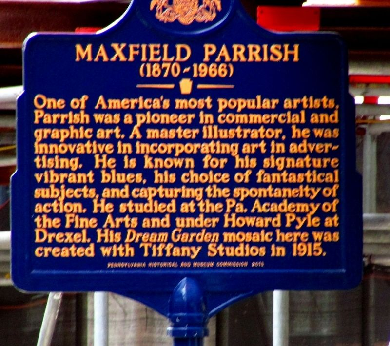 Maxfield Parrish Marker image. Click for full size.