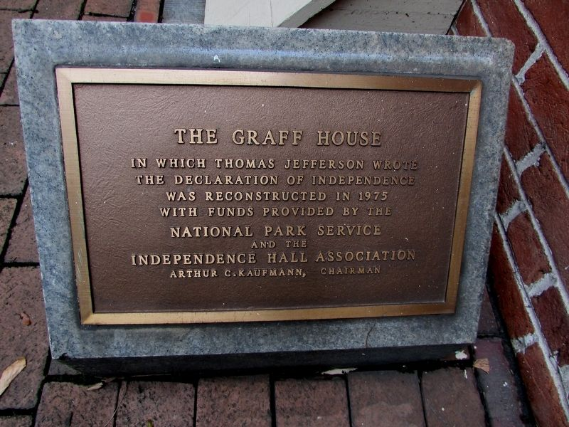 The Graff House Marker image. Click for full size.