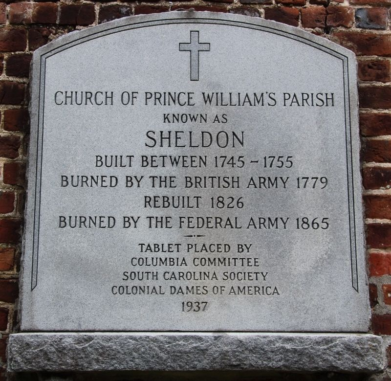 Church of Prince William's Parish Marker image. Click for full size.