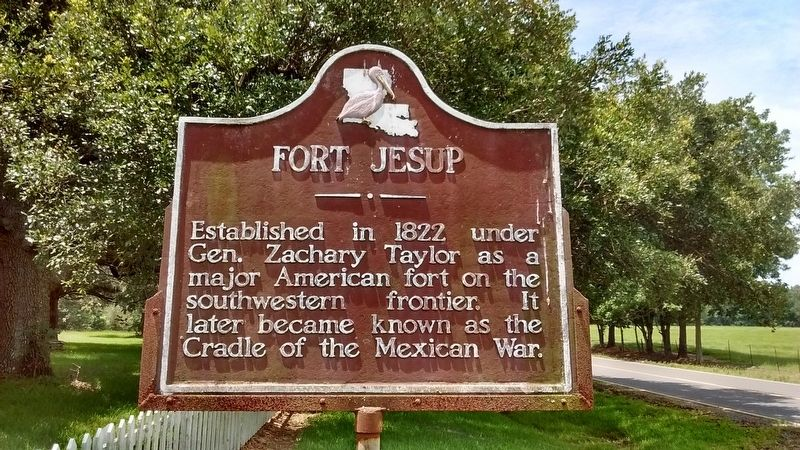 Fort Jesup Marker image. Click for full size.