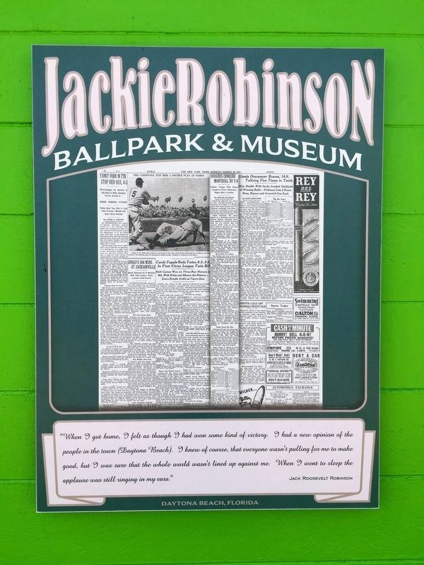 Jackie Robinson Plays In His First MLB Spring Training Game Marker image. Click for full size.