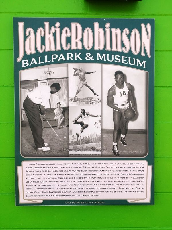 Jackie Robinson Sports Memories Marker image. Click for full size.