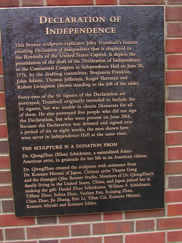 Declaration of Independence Marker image. Click for full size.