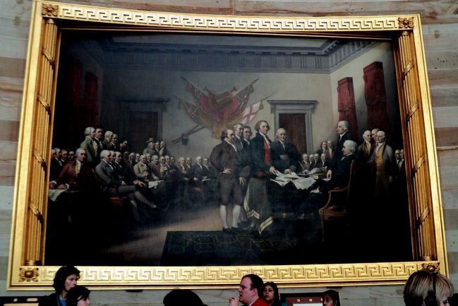 Declaration of Independence Painting in the Capitol Rotunda image. Click for full size.