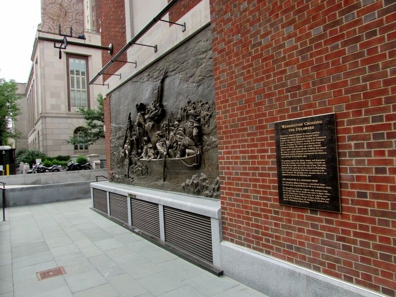 Marker at the Museum of the American Revolution image. Click for full size.