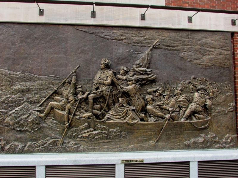 Washington Crossing the Delaware Plaque image. Click for full size.