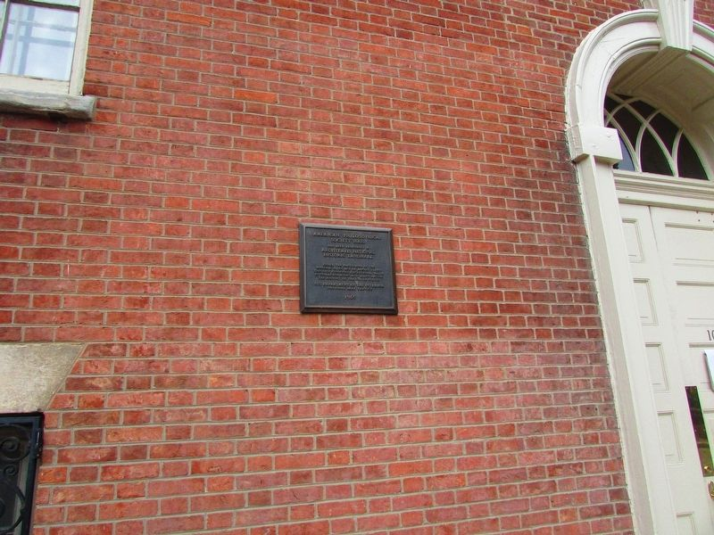 American Philosophical Society Hall Marker image. Click for full size.