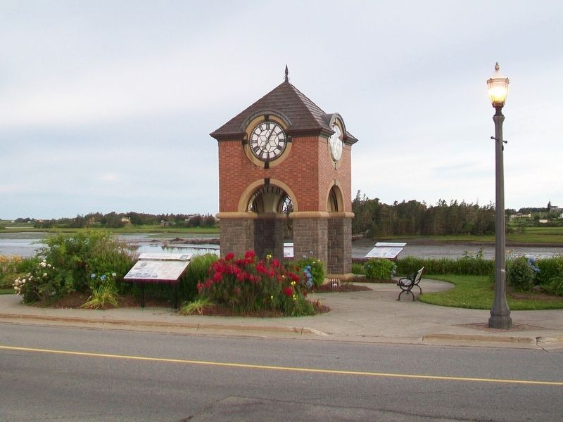 Refurbished Milton Clock and Marker image. Click for full size.