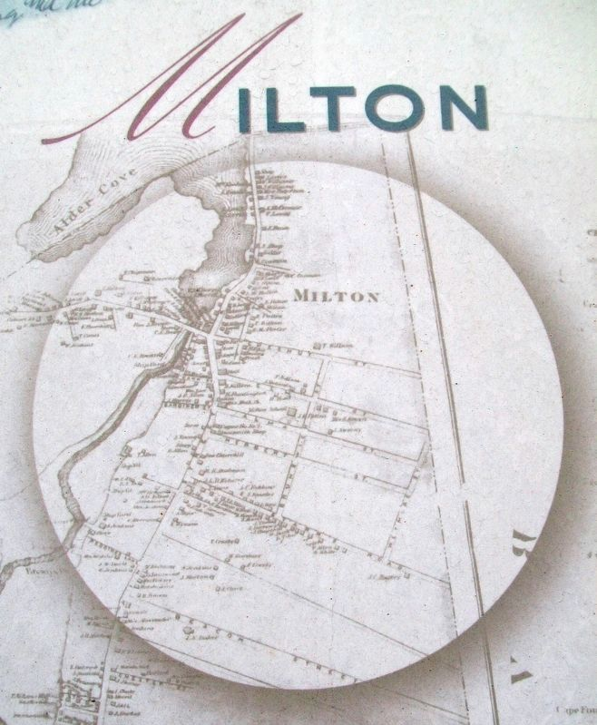 Map on Milton Clock Marker image. Click for full size.