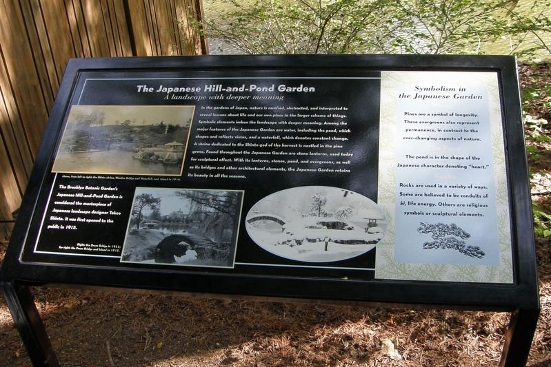 The Japanese Hill-and-Pond Garden Marker image. Click for full size.
