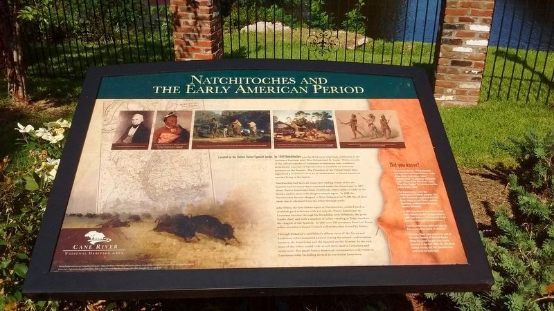 Natchitoches and the Early American Period Marker image. Click for full size.