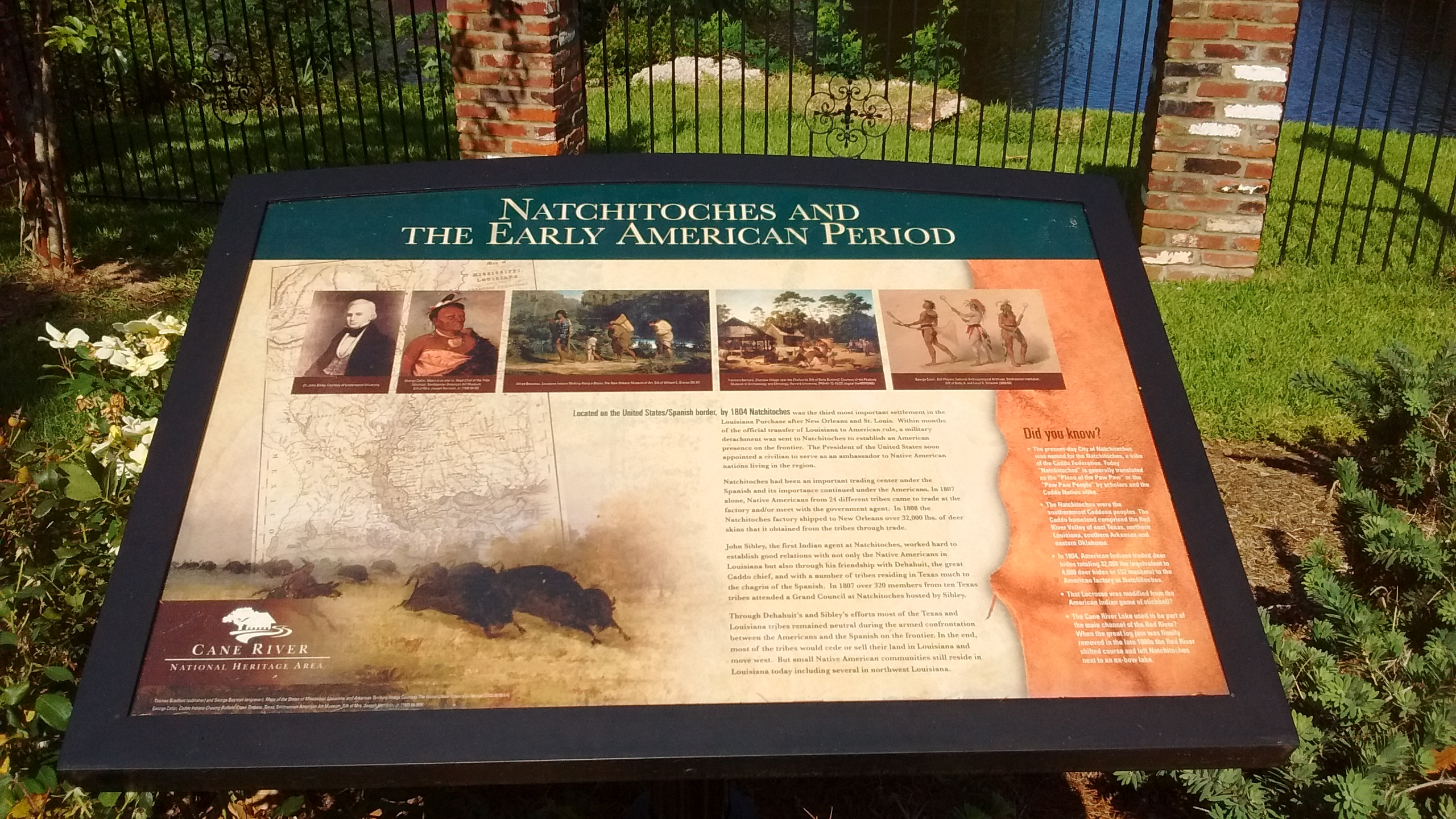 Natchitoches and the Early American Period Marker