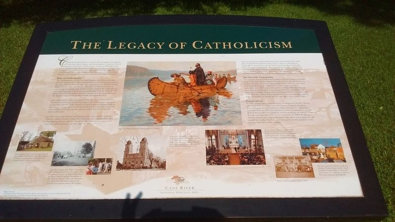 The Legacy of Catholicism Marker image. Click for full size.