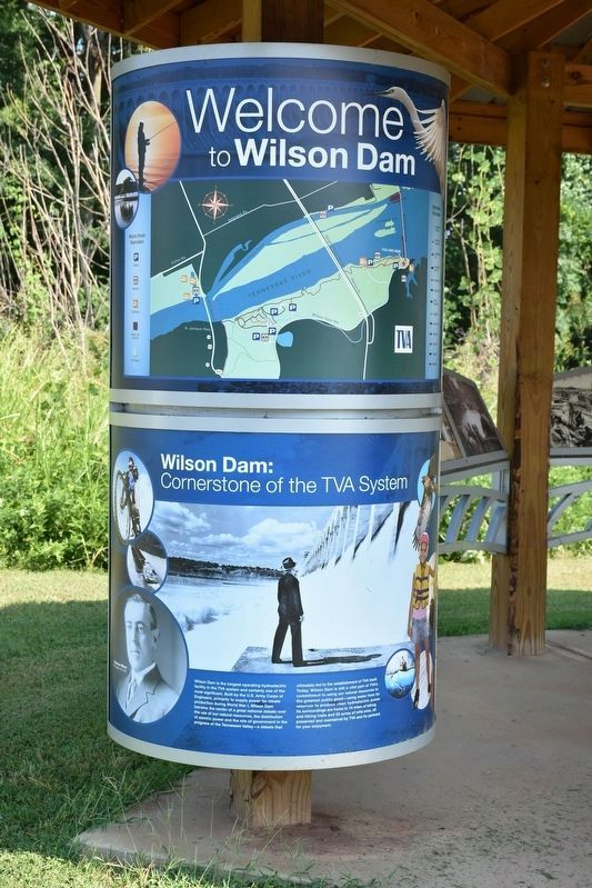 Welcome to Wilson Dam/Cornerstone to the TVA System Marker image. Click for full size.