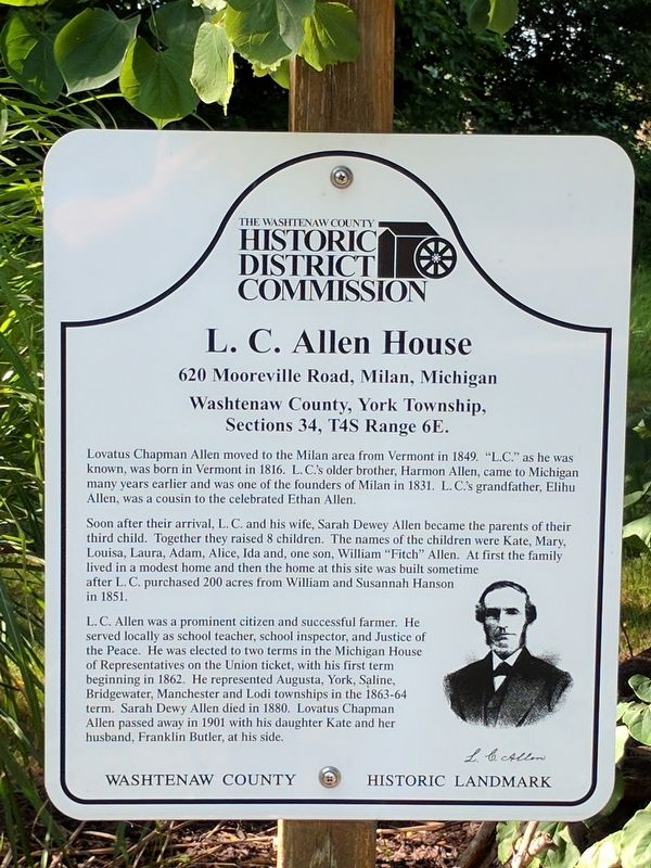 L. C. Allen House Marker image. Click for full size.