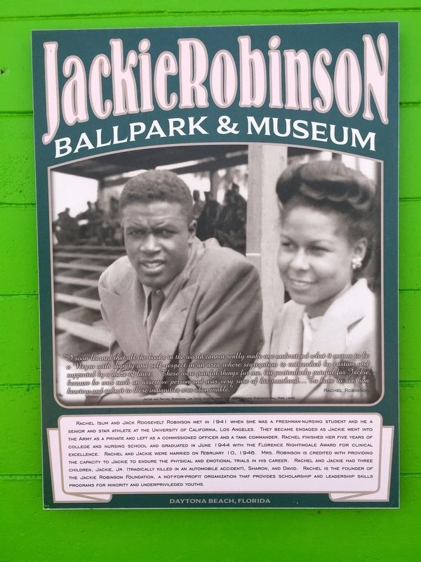 Rachel Robinson Marker image. Click for full size.