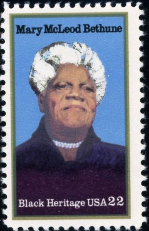 Mary McLeod Bethune US Stamp image. Click for full size.