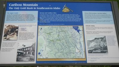Caribou Mountain Marker image. Click for full size.
