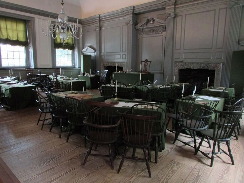 Inside Independence Hall image. Click for full size.