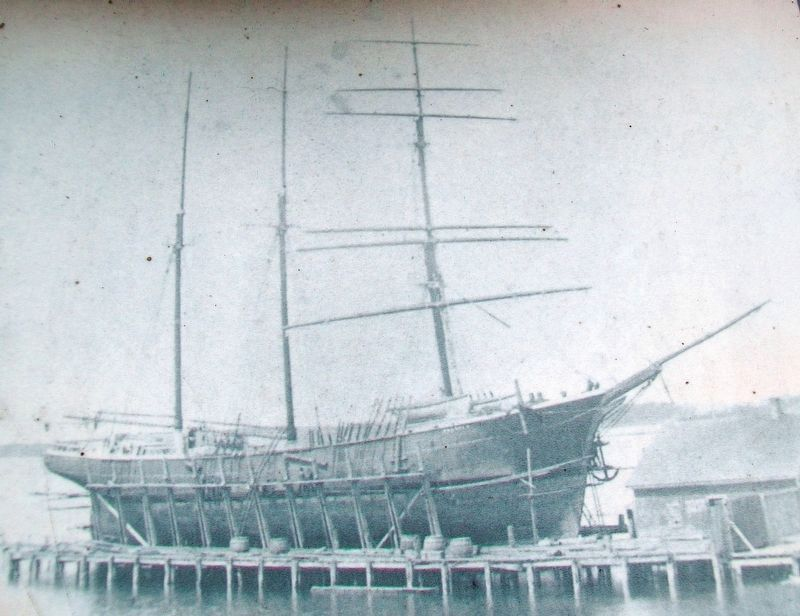 Barquentine <i>Baldwin</i> Photo on Shipbuilding Marker image. Click for full size.