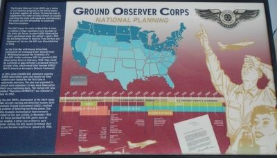Ground Observer Corps National Planning Marker image. Click for full size.