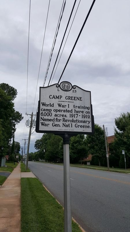 Camp Greene Marker image. Click for full size.