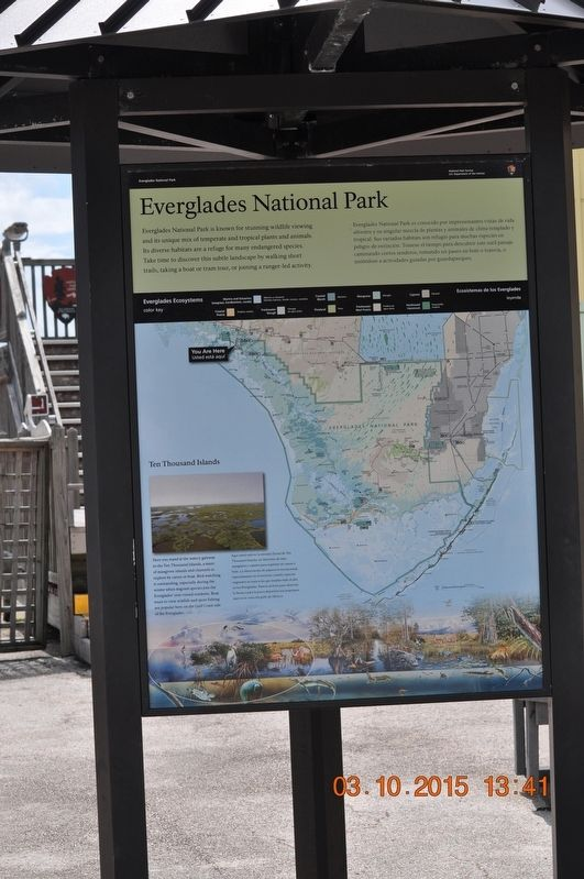 Everglades National Park Marker image. Click for full size.