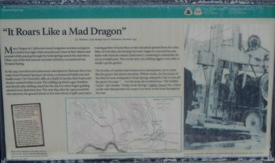 """It Roars Like a Mad Dragon"" Marker image. Click for full size."