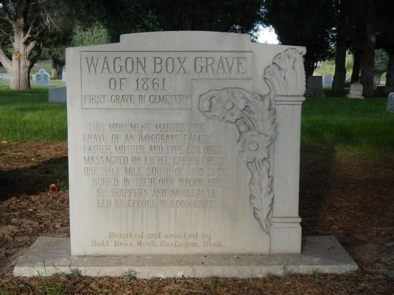 Wagon Box Grave of 1861 Marker image. Click for full size.