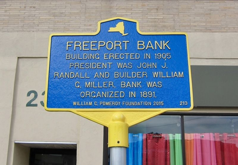 Freeport Bank Marker image. Click for full size.