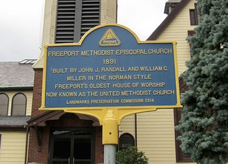 Freeport Methodist Episcopal Church Marker image. Click for full size.