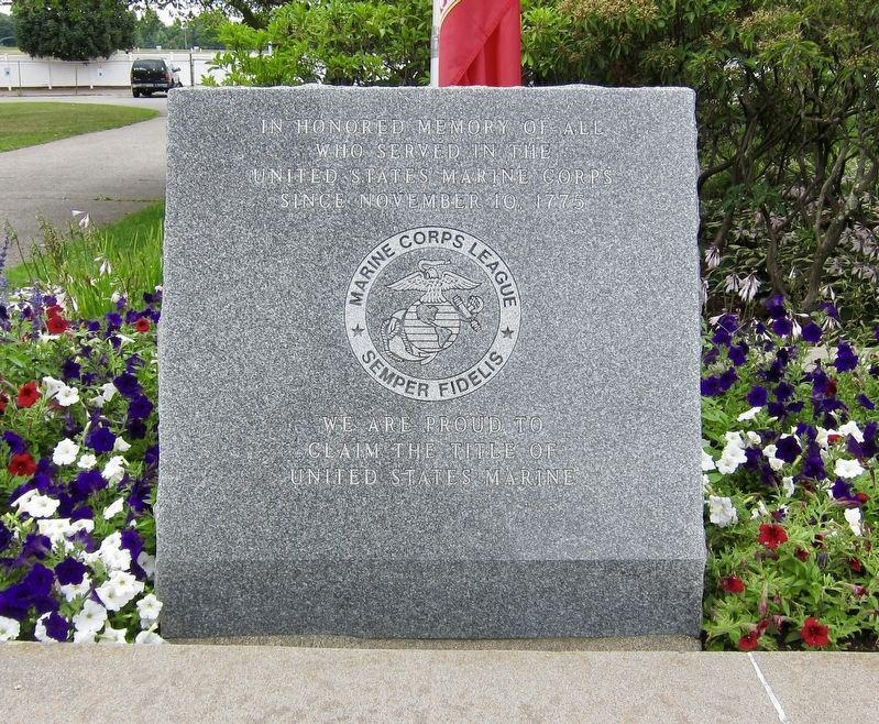 Marine Corps Memorial Marker image. Click for full size.