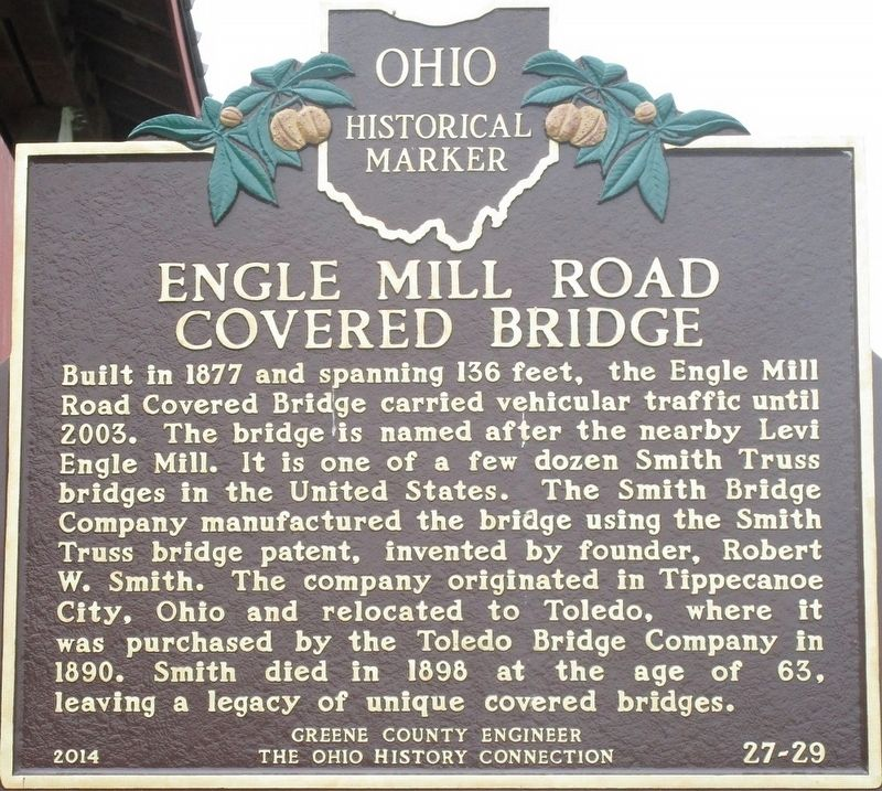 Engle Mill Road Covered Bridge Marker image. Click for full size.