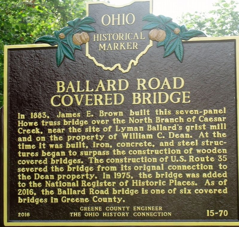 Ballard Road Covered Bridge Marker image. Click for full size.